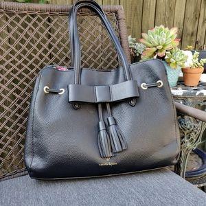 Nanette Lepore Black Arabelle Bow Front Tassel Bag